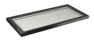 1m x 2m black rooflight