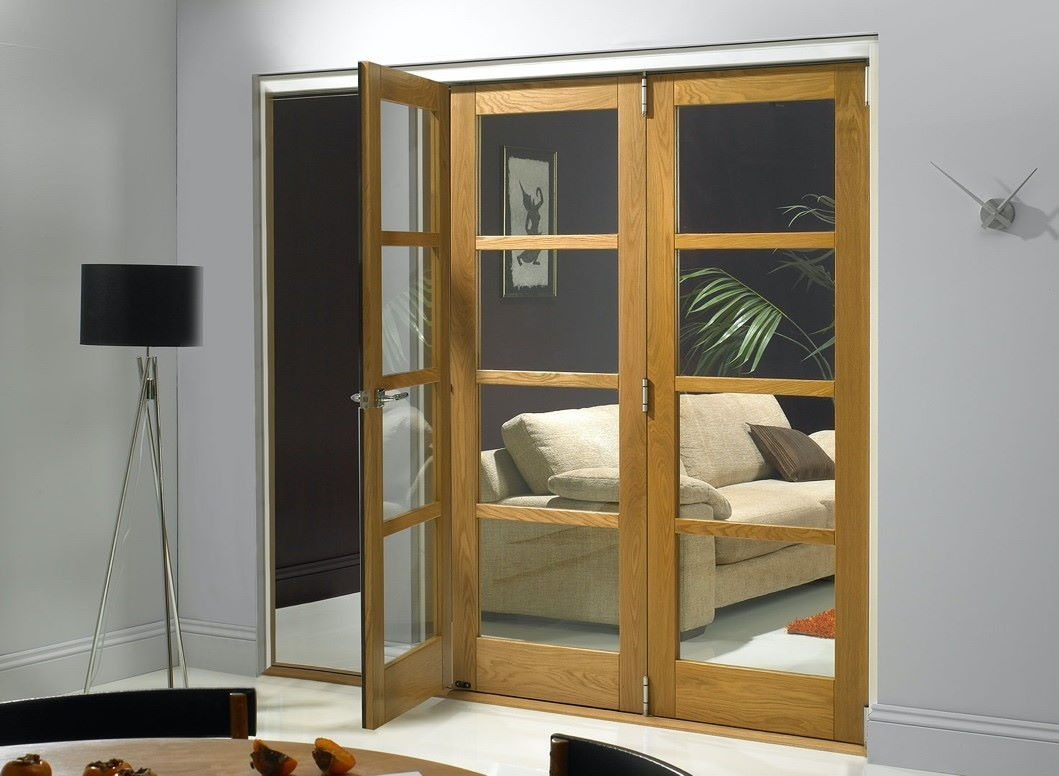 open section on bifold door