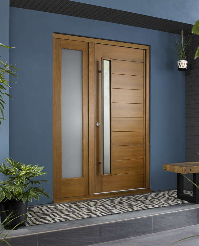 Stockholm oak with single sidelight and handle