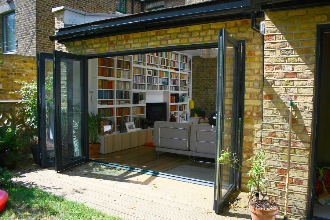 Outside Open 3.6M Supreme Aluminium Bifold Doors