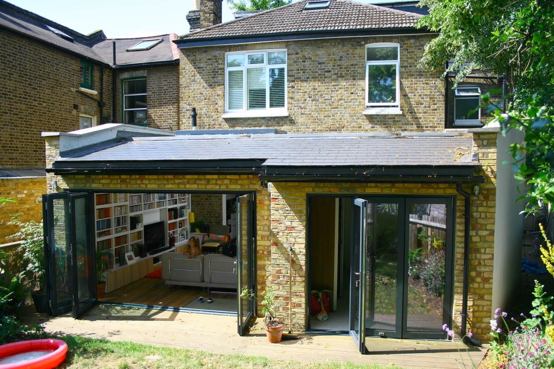 Open 3.6M and part open 2.1M Supreme Aluminium Bifold Doors