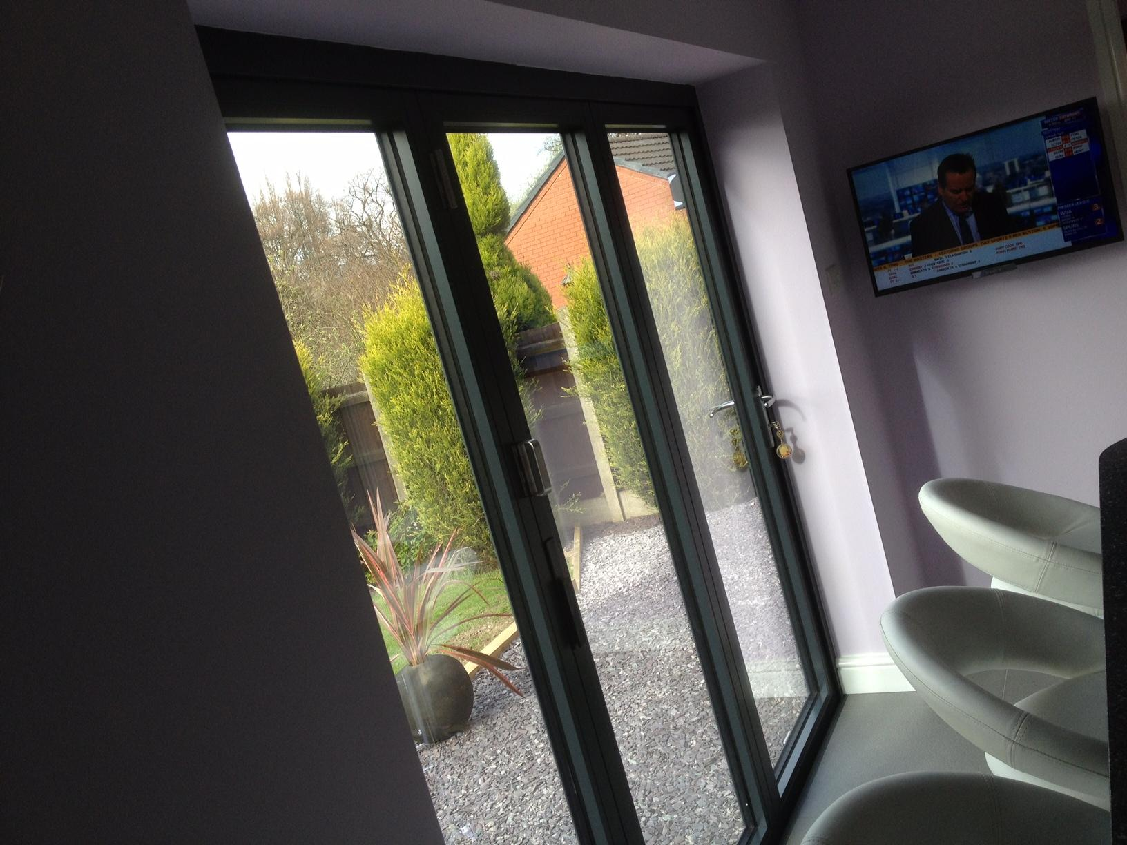 Inside Closed Supreme 8ft Aluminium Bifold Doors