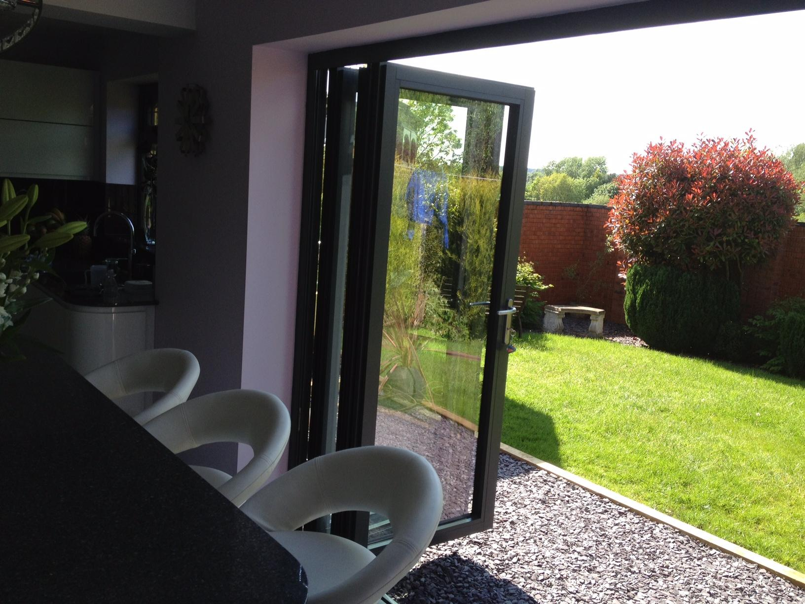 Open 8ft Supreme Aluminium Bifold Doors