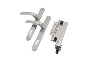 Satin nickel handles and hardware