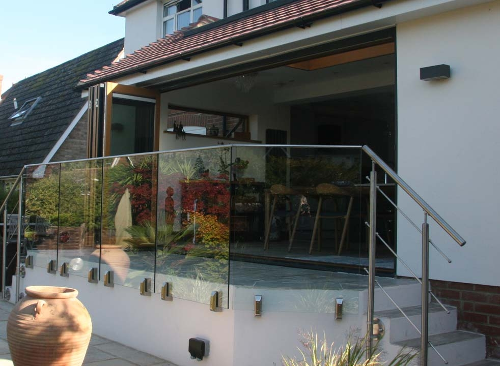 Ultra Alu-Clad 4.2M External bifold doors Open side view