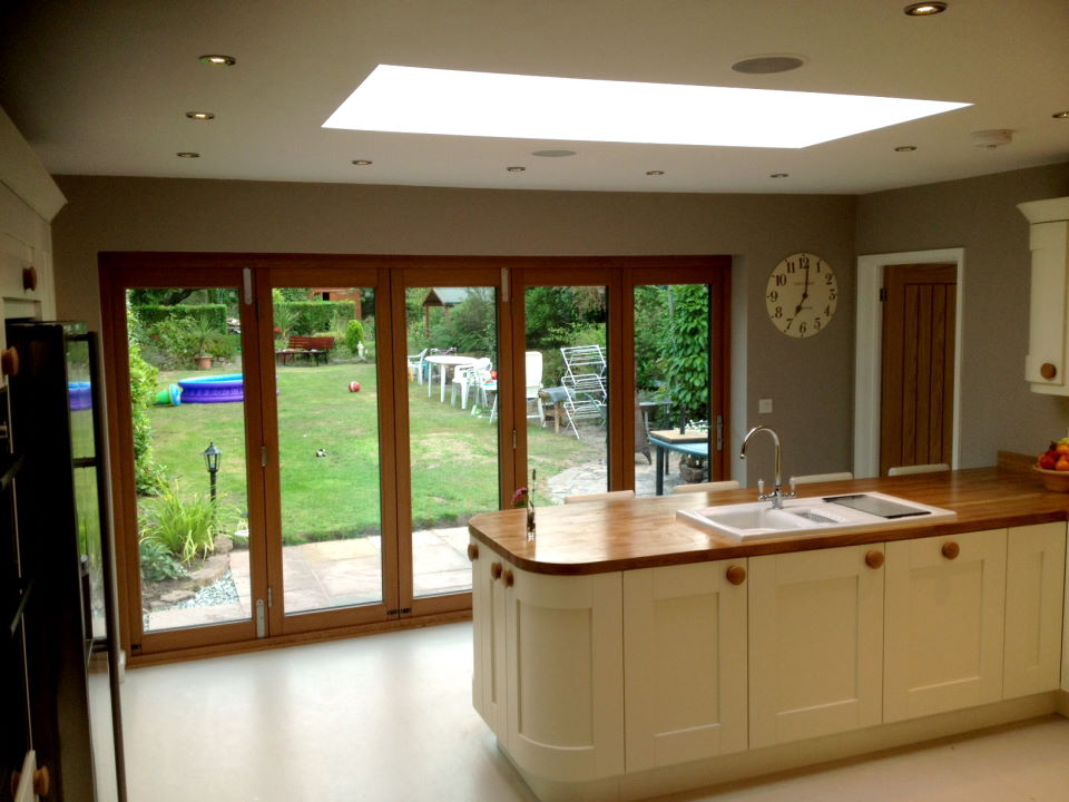Inside view of an Ultra 12ft Bifold doors