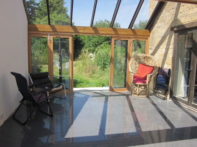 Inside view of a set of Ultra Bifold Doors