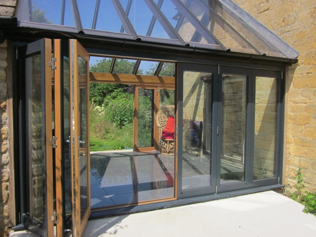 2 Sets of Ultra Bifold Doors Creates Greenhouse Effect