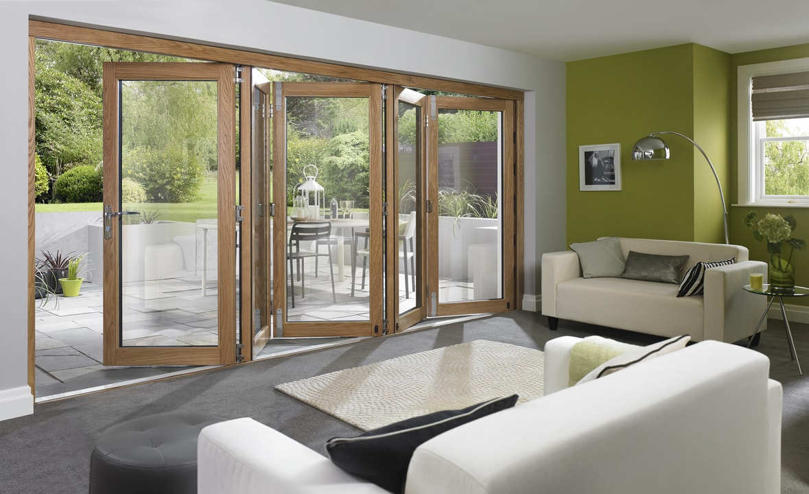 Inside Open 5 Door Ultra External Bifold Door