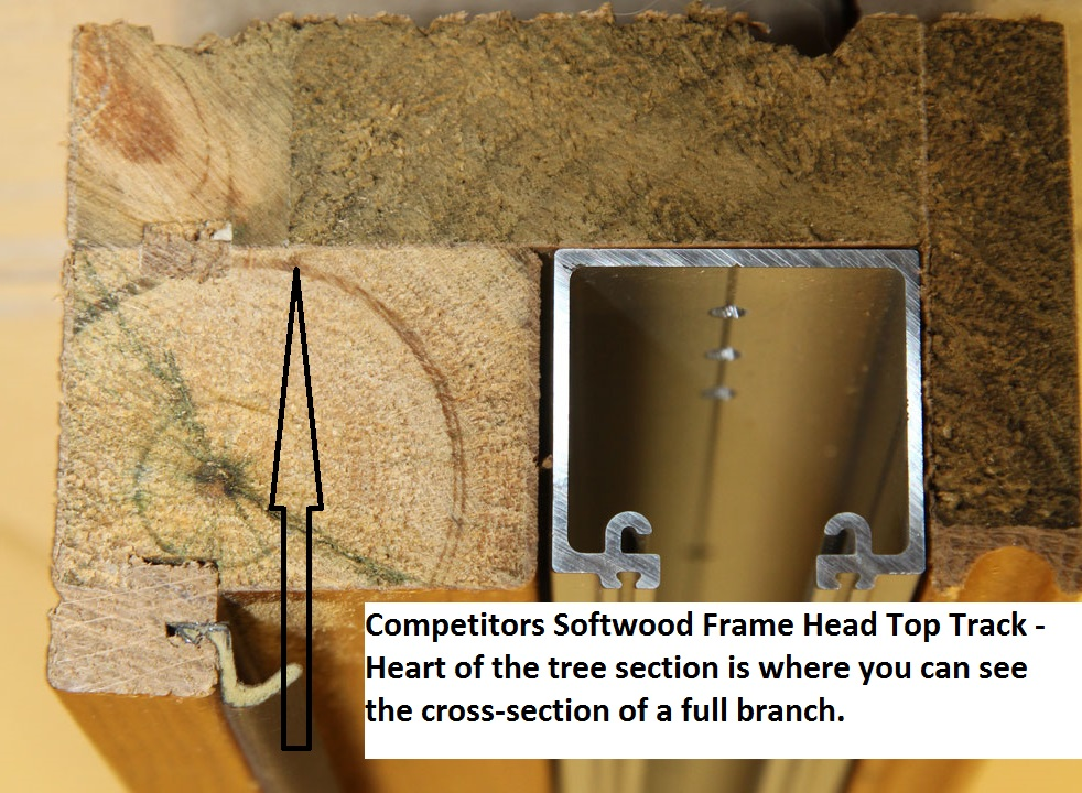 Competitors Softwood Frame Head Top Track