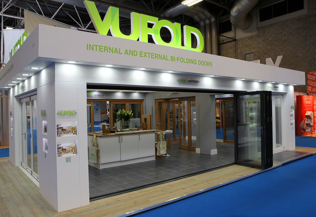 Open Supreme 16ft Aluminium Doors shows our internal exhibition stand