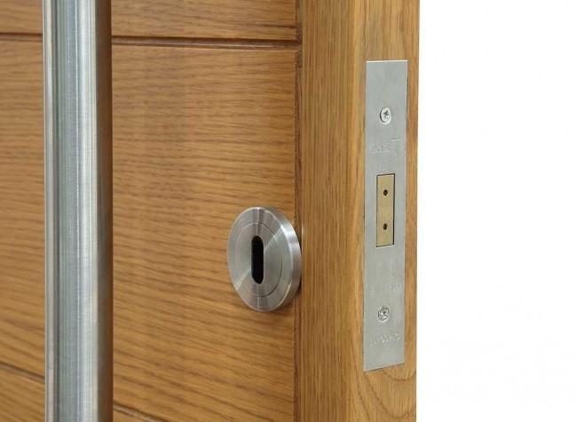 wooden front door lock
